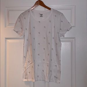 "Victoria Secret White ""PINK"" Logo Shirt"